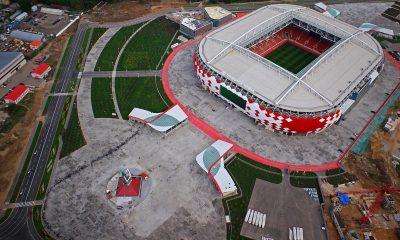 Facade grid structure for the Spartak Stadium