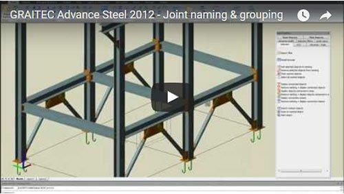 Advance Steel 2012 - Raggruppamento e denominazione dei giunti