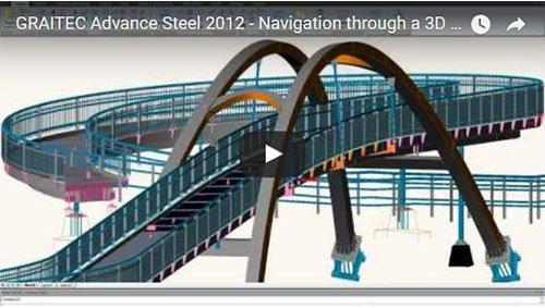 Advance Steel 2012 - Navigazione attraverso un modello 3D