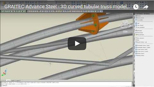 Modellazione 3D di capriate curve con tubolari e disegno con relativo sviluppo