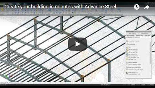 Crea la tua struttura in pochi minuti con Advance Steel