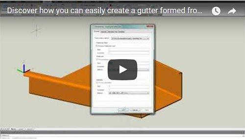 Scopri come è possibile creare facilmente un profilo di gronda formato da un piatto piegato con Advance Steel!