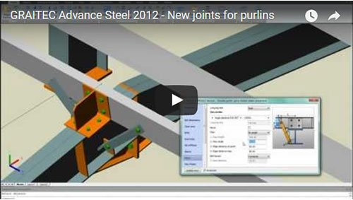 Advance Steel 2012 - Nuovi giunti per arcarecci