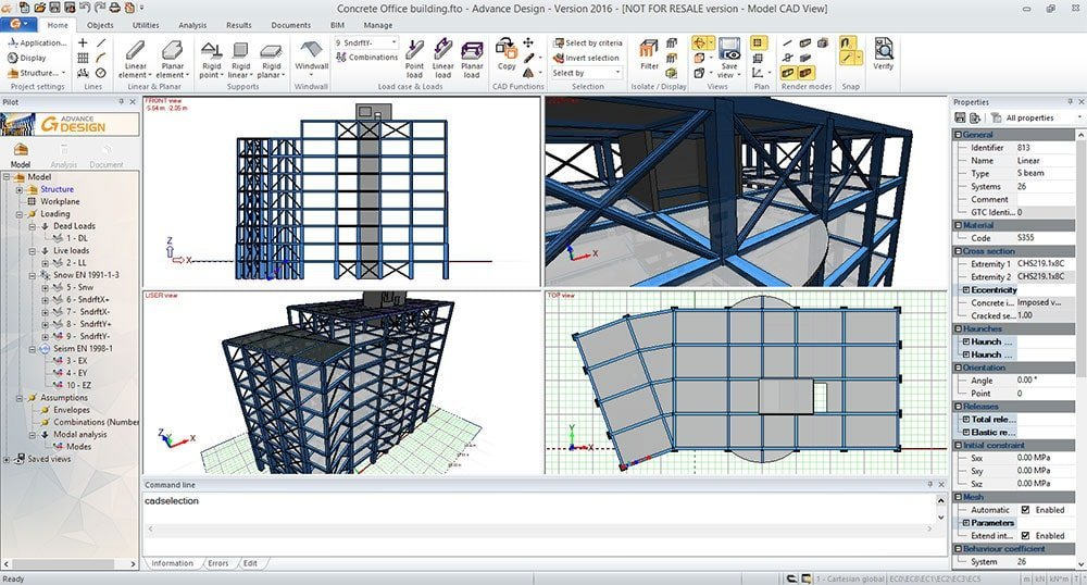 GRAITEC Advance Design | Modellazione facile e veloce