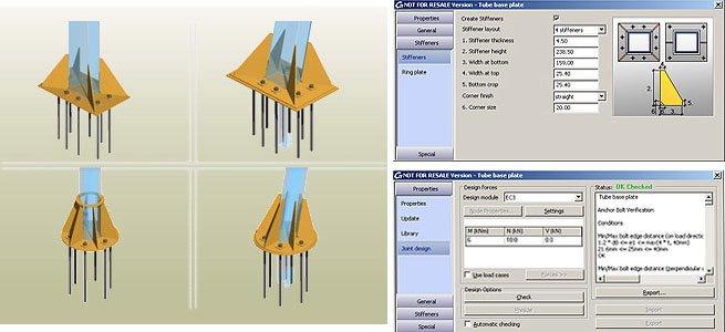 GRAITEC Autodesk Advance Steel | Eurocodici 3 | Piastra di base con tubo