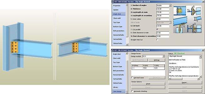 GRAITEC Autodesk Advance Steel | Eurocodici 3 | Angolare - Sghembo