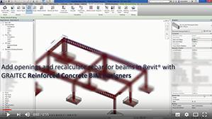 Ricalcolo dell'armatura per travi con aperture attraverso i Reinforced Concrete BIM Designers
