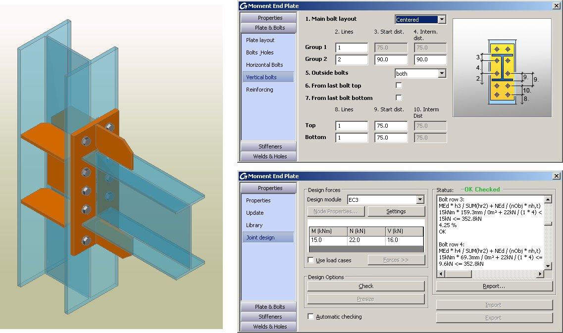 GRAITEC Autodesk Advance Steel | Eurocodici 3 | Flangia a momento