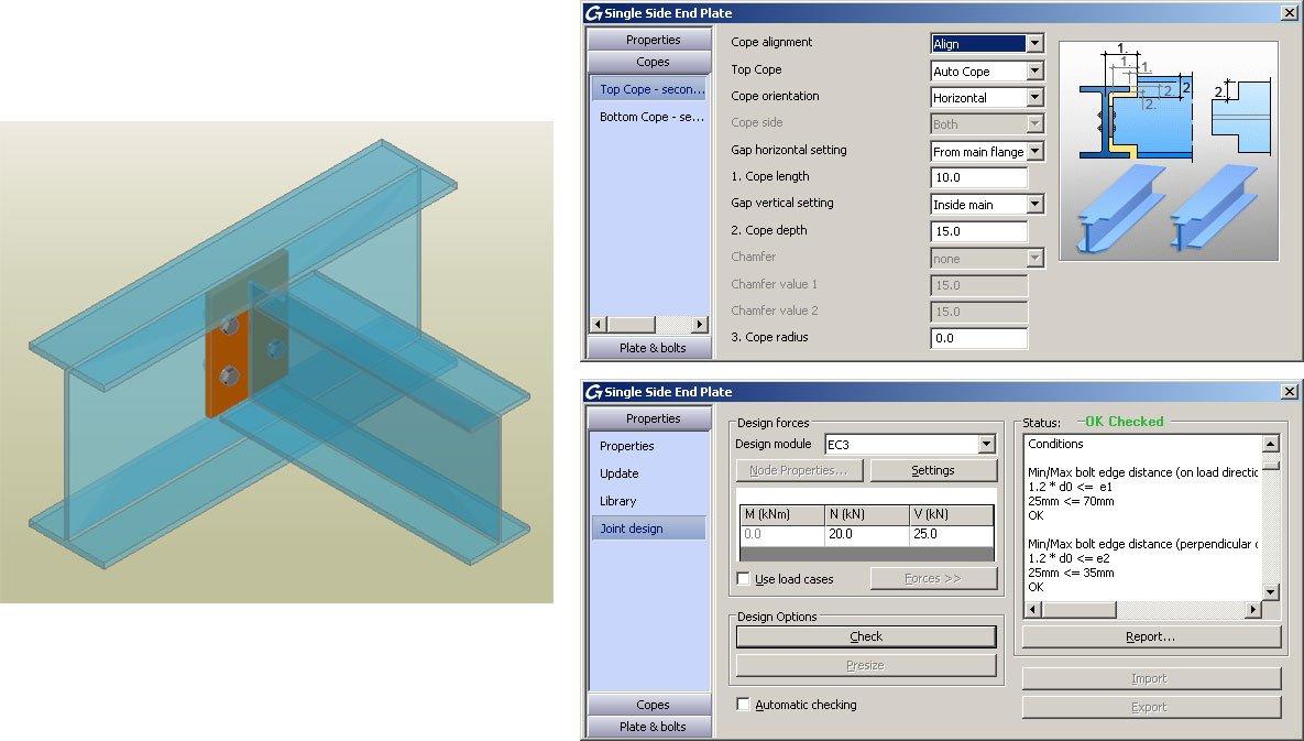 GRAITEC Autodesk Advance Steel | Eurocodici 3 | Flangia lato singolo