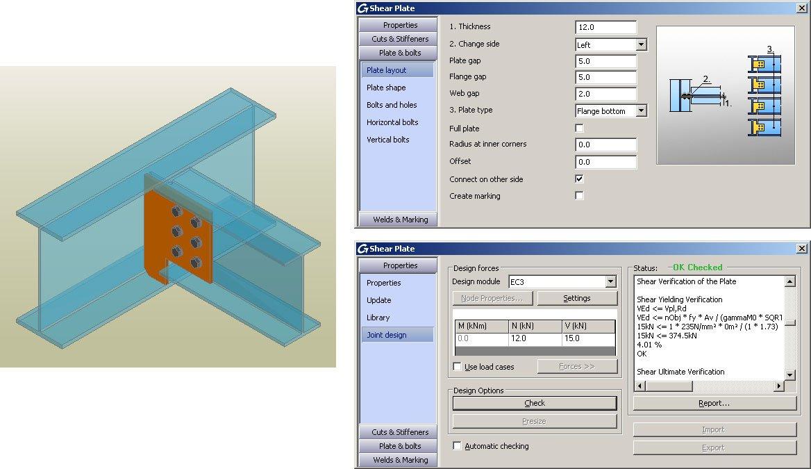 GRAITEC Autodesk Advance Steel | Eurocodici 3 | Piatto a taglio