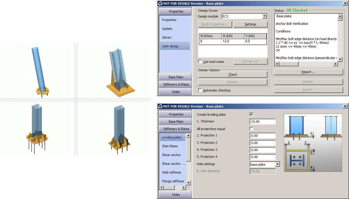 GRAITEC Autodesk Advance Steel | Eurocodici 3 | Piastra di base