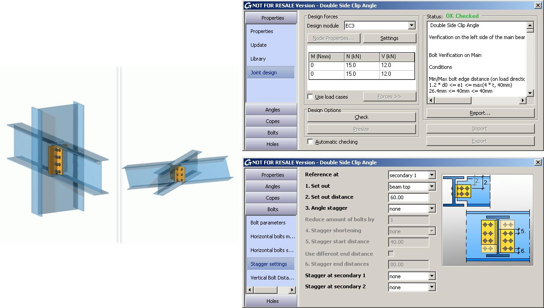 GRAITEC Autodesk Advance Steel | Eurocodici 3 | Angolare lato doppio