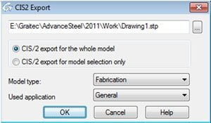 GRAITEC Autodesk Advance Steel | Panoramica dei formati di scambio | Interfaccia CIS/2