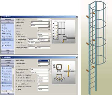 GRAITEC Autodesk Advance Steel | Scale e Parapetti | Scale a pioli