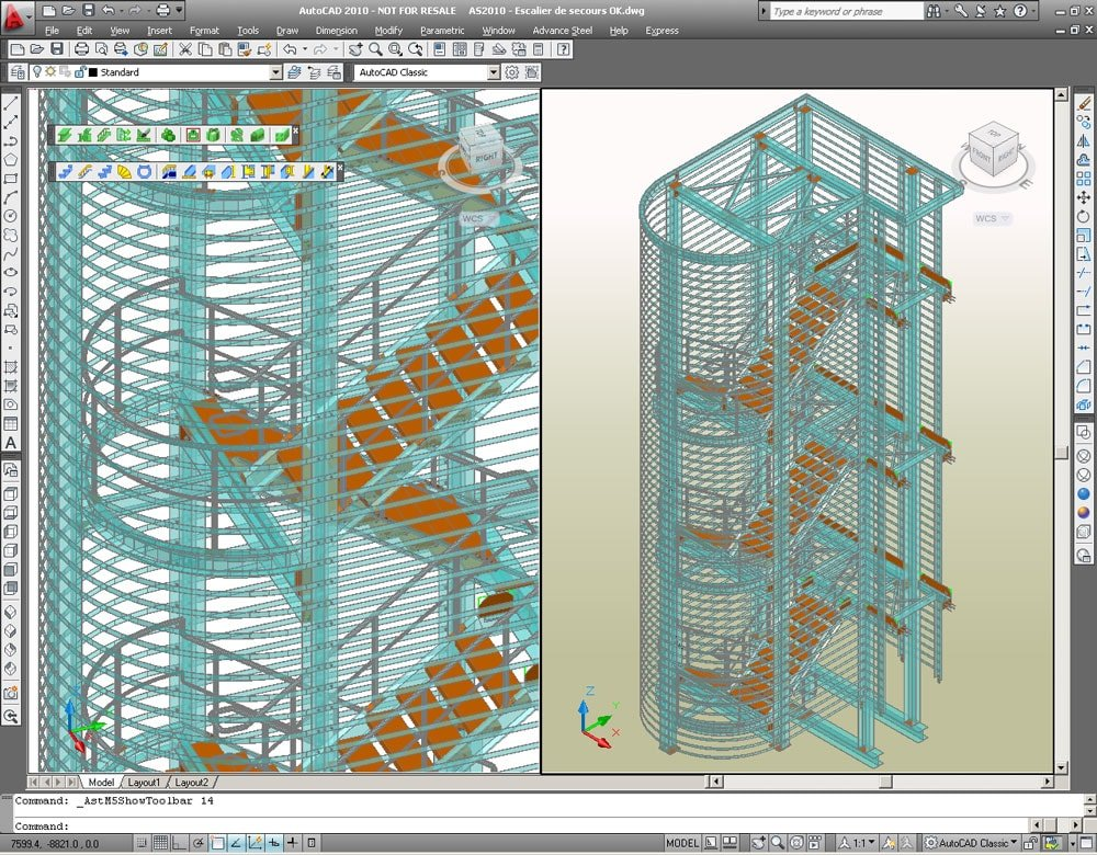 GRAITEC Autodesk Advance Steel | Scale e Parapetti | Scala - Facile e veloce