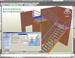 GRAITEC Autodesk Advance Steel | Scale e Parapetti | Facile da personalizzare