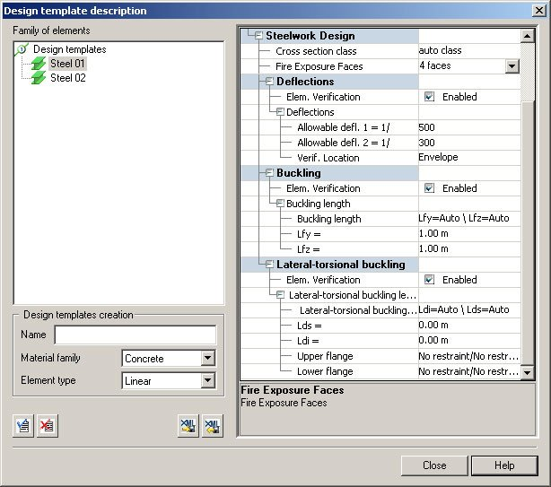 GRAITEC Advance Design | Verifica degli elementi in acciaio | Ipotesi di calcolo dettagliate